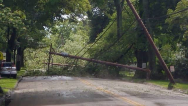 Hundreds were left without power after storms tore through Fairfield County.
