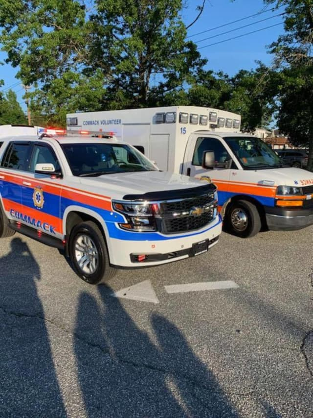 Commack Volunteer Ambulance Corps rescued a man injured in the woods.