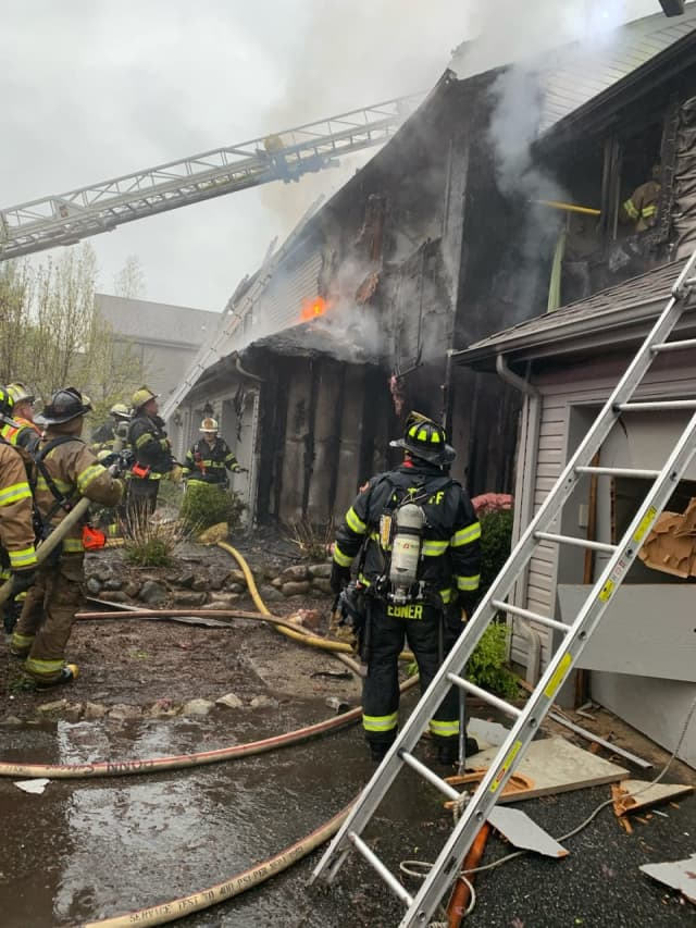 Firefighters had the Mahwah townhouse blaze under control in under an hour.