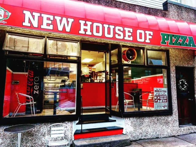 New House of Pizza, Main Street in Hackensack, 201-342-1571