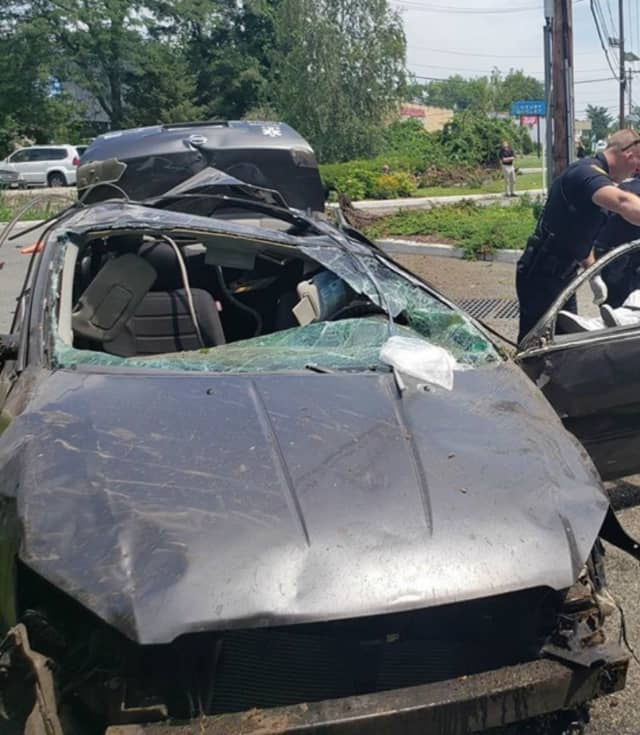 A Harrison man had to be freed from this car following a crash Wednesday in Fairfield.
