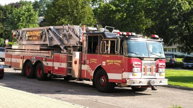 Some 10 people were displaced following a three-alarm fire at a Bridgeport apartment house.