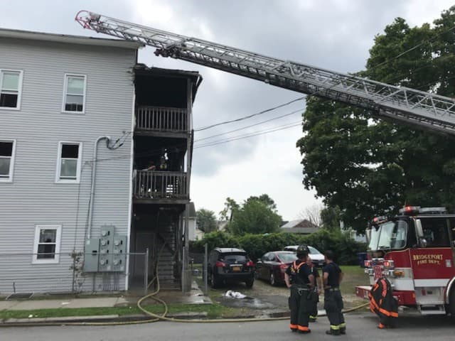 No one was injured during a fire at a six-unit housing complex.