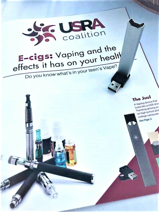 Vaping products and information will be available for parents to review at the USRA Coalition program, said Mayor Joanne Minichetti, who chairs the coalition.