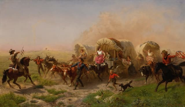 """Indians Attacking a Wagon Train"" was sold for $5 million, a new report says."