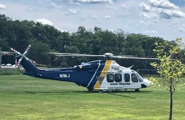An NJSP Jemstar flew the man to Morristown Medical Center.