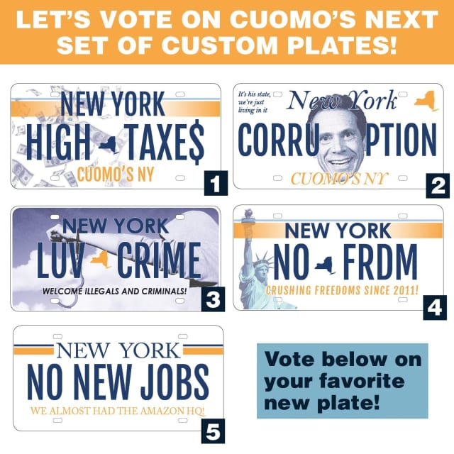 A new poll found that New Yorkers overwhelmingly oppose the proposed license plate plan.