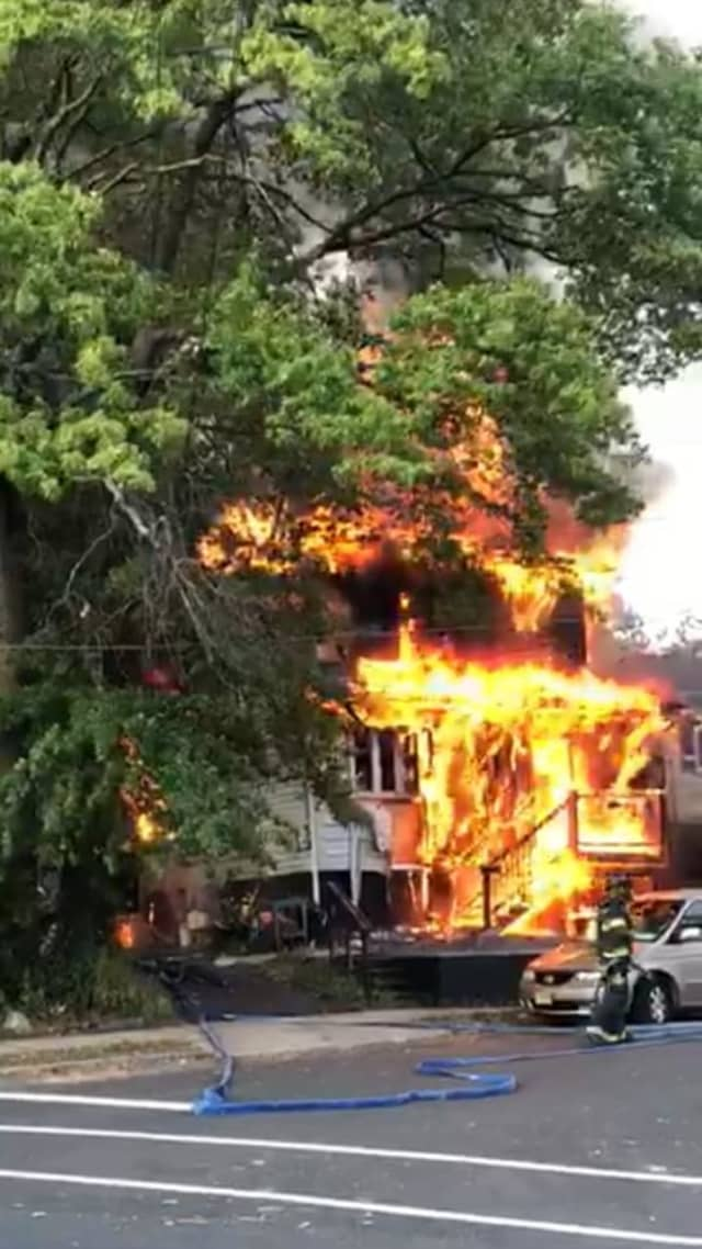 Fire heavily damaged a Union home -- for the second time in less than a decade.