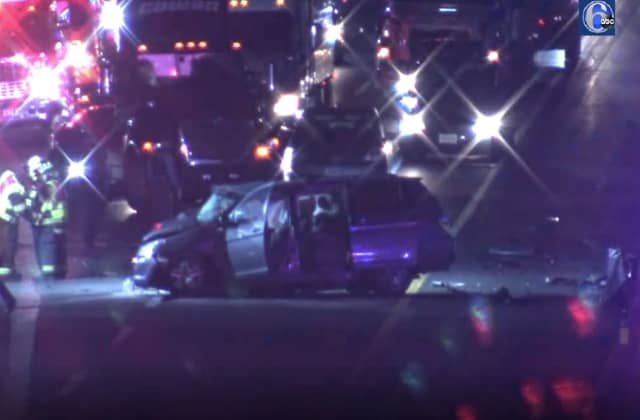 The minivan containing a Middlesex County family was struck head-on by a sedan heading south in the northbound lanes of the NJ Turnpike in South Jersey.