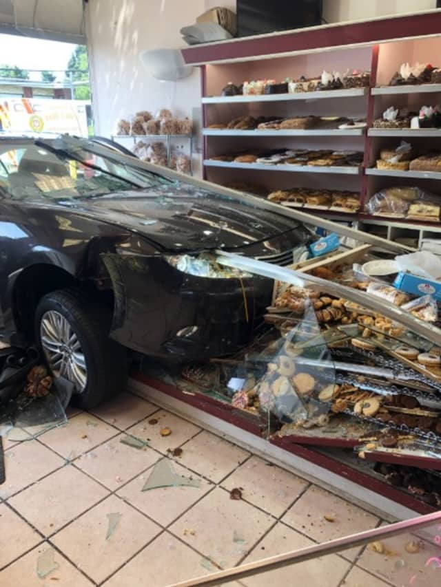 The mishap caused extensive damage to Zadies Bake Shop in Fair Lawn.