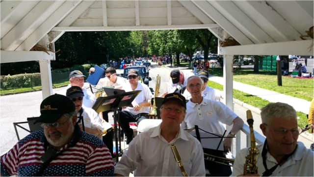 Waldwick Community Band performs in Ridgefield Park on Wednesday, Aug. 10.