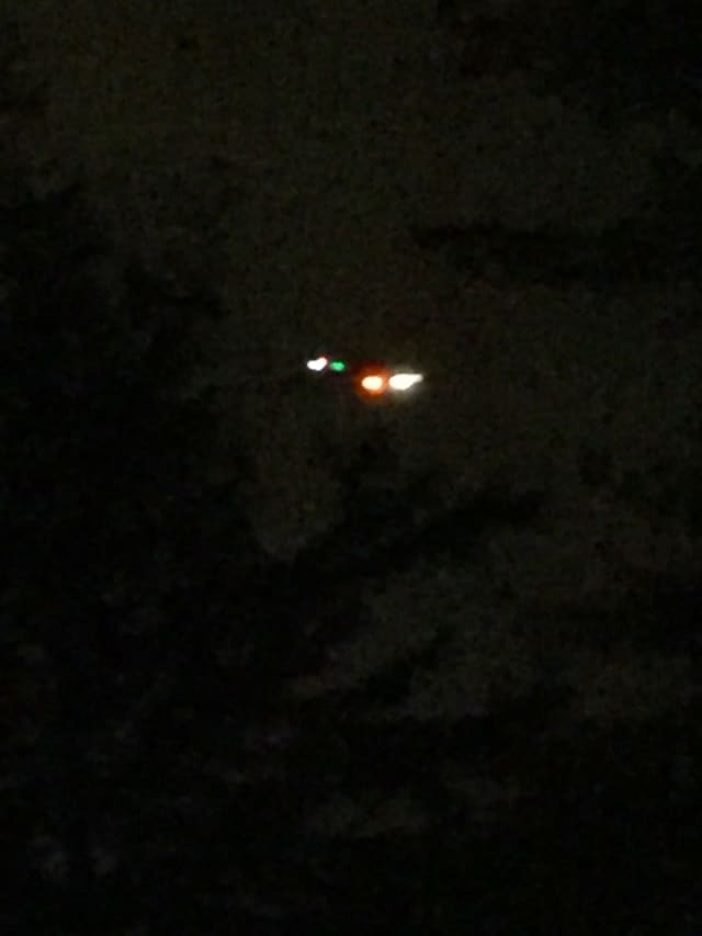 NJ State Police chopper hovering over Franklin Lakes early Wednesday evening.