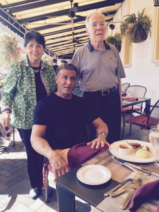 Desmond and Alice Lloyd welcomed Sylvester Stallone for lunch last week at The Grand Cafe in Morristown.