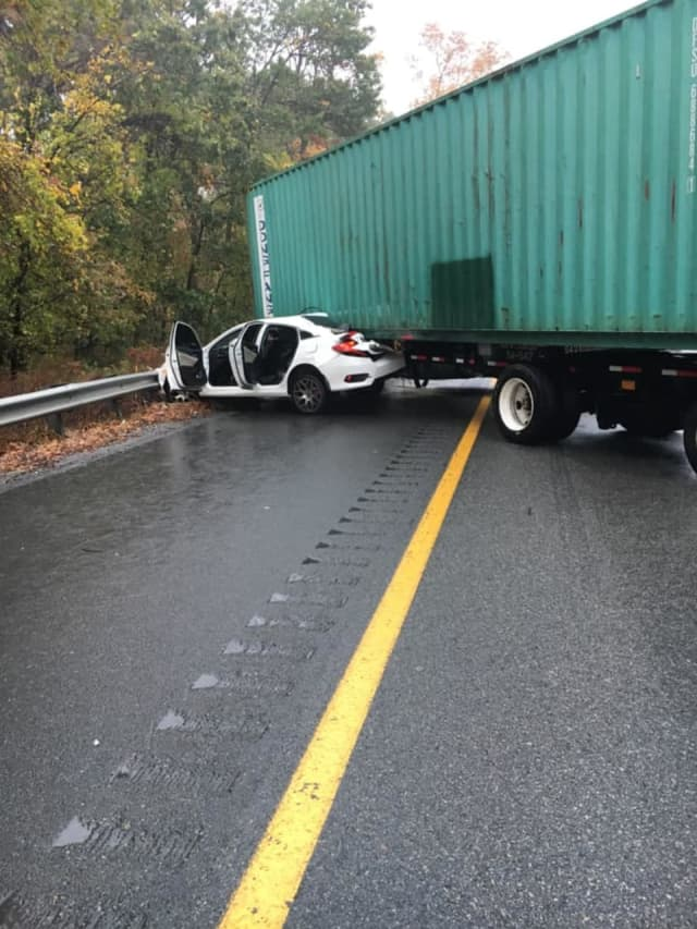 The crash happened on the eastbound side of Route 80 near Exit 42.