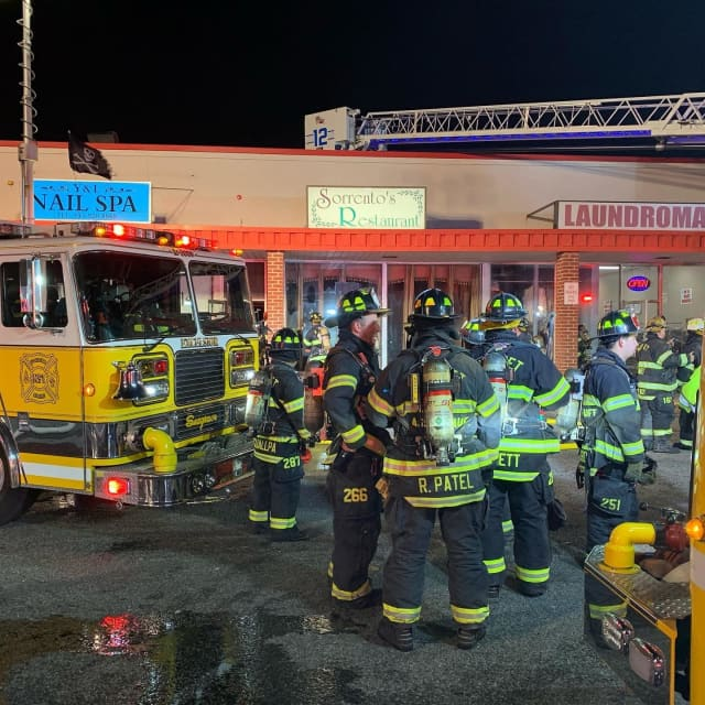 Pearl River firefighters responded to a fire at Sorrento's Restaurant.