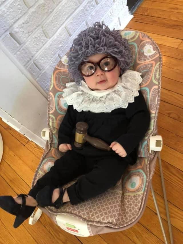 Noa Kalman, 5 months, as Ruth Baby Ginsburg (2019).
