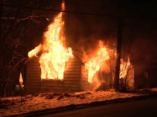 A house fire broke out around 2:40 a.m. Monday due to an unattended candle, police said.