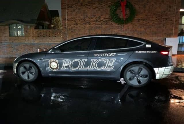 The Westport Police Department has purchased the first Tesla Model 3 squad car in Connecticut.