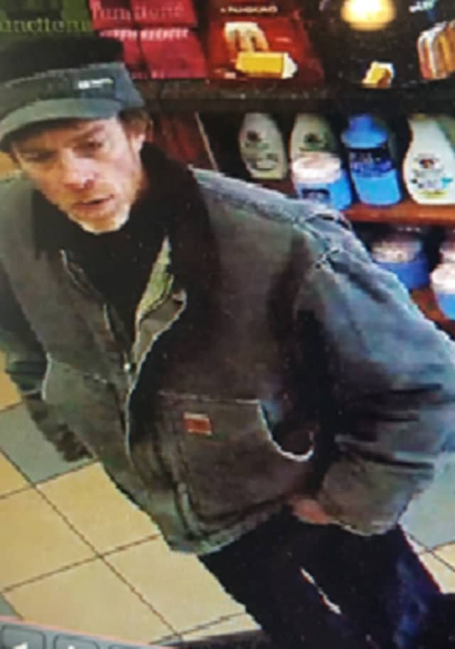 """REWARD POSSIBLE: Anyone who knows or has seen the man in this photo from a Morris County store is asked to call (973) COP CALL. Or use the free """"P3 Tips"""" application on any mobile device."""