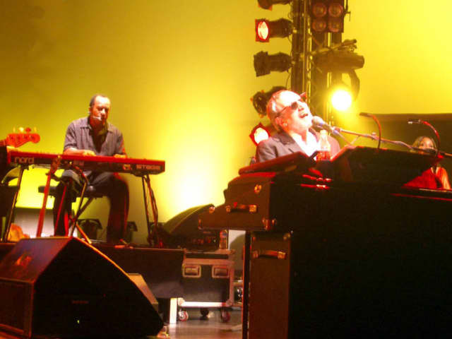 Donald Fagen, right, in concert with Steely Dan in Luzern, Switzerland, 2007.