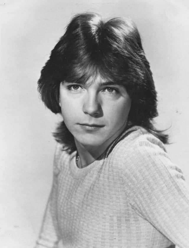 "David Cassidy in a photo from his days on ""The Partridge Family"" TV show."
