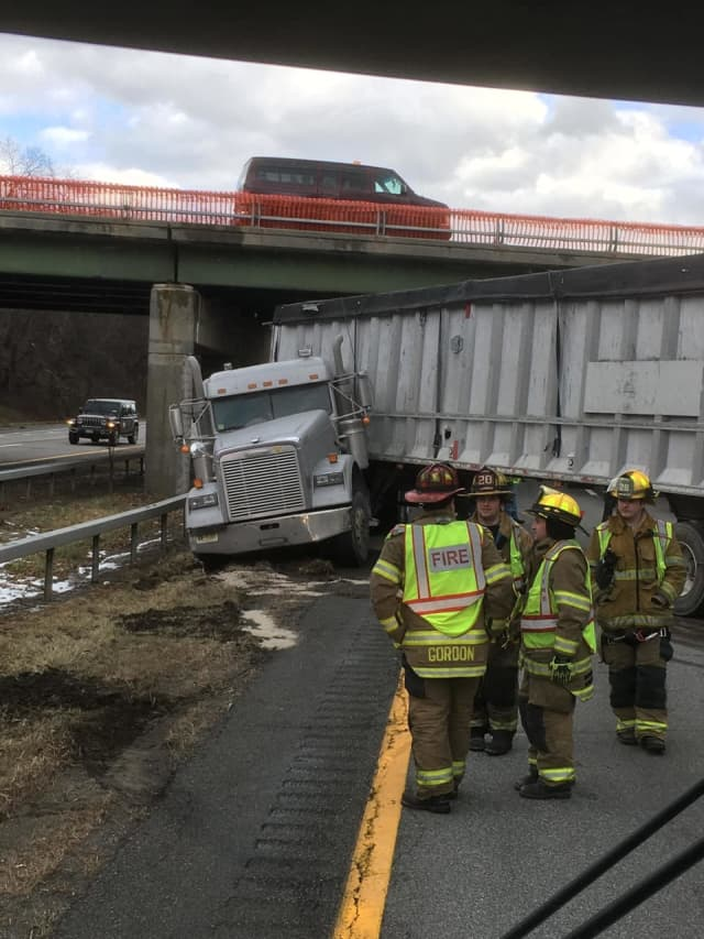 Route 17 in Monroe is closed due to a jackknifed tractor-trailer.