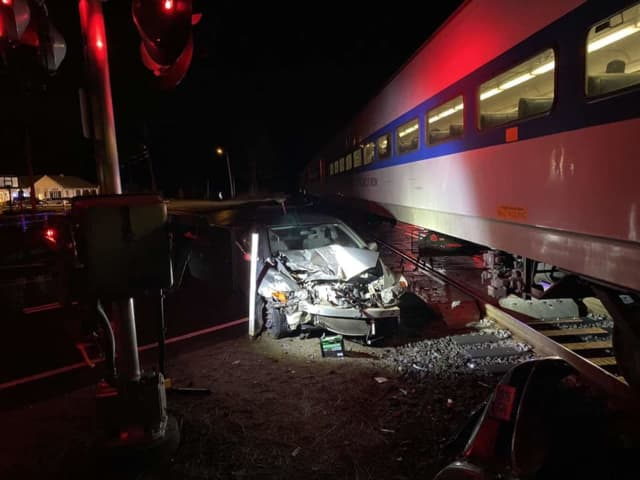 A man was saved from being hit by a train by a local restaurant owner.