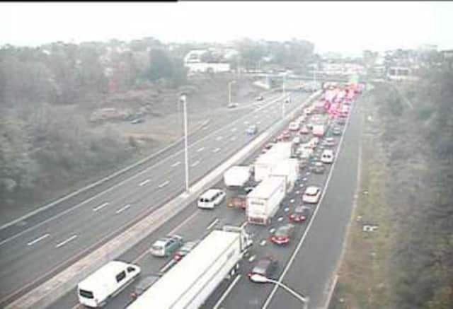 I-95 is pretty much a parking lot after a massive accident in Norwalk on Thursday morning.