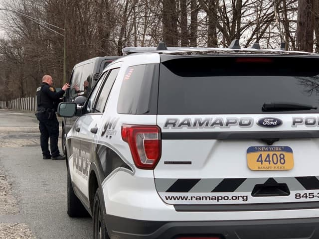 Ramapo Police arrested two people for DWI at the scene of two separate traffic crashes.