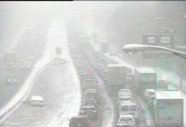Light snow and slippery conditions caused accidents across Fairfield County.