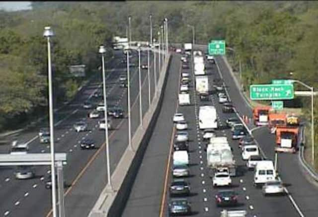 The exit ramp is closed at Exit 24 on I-95 south after a crash.