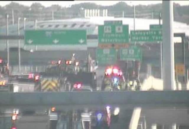 The rollover accident is on northbound I-95 between Exits 26 and 27 in Bridgeport