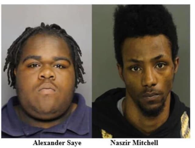 Alexander Saye, 22, of Irvington and Naszir Mitchell, 21, of Hillside were arrested following a string of armed robberies in Newark.