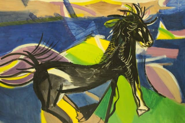 """Wild Horse"" by American contemporary artist Ben Benn (1884-1983) is one of 50 paintings in Wilton Library's Branchville SoHo Gallery Estate Art Exhibition, opening Friday, June 9, from 6 to 7:30 p.m."