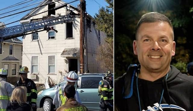 Ridgefield Police Sgt. Edward Schaefer was walking out of the headquarters when he saw smoke coming from Hillside Street.