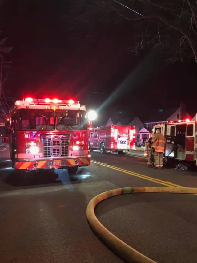 An 85-year-old woman was killed during a house fire in Rye.
