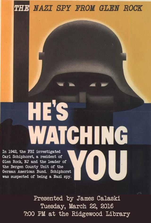"James Calaski will present ""The Nazi Spy from Glen Rock"" on Tuesday."