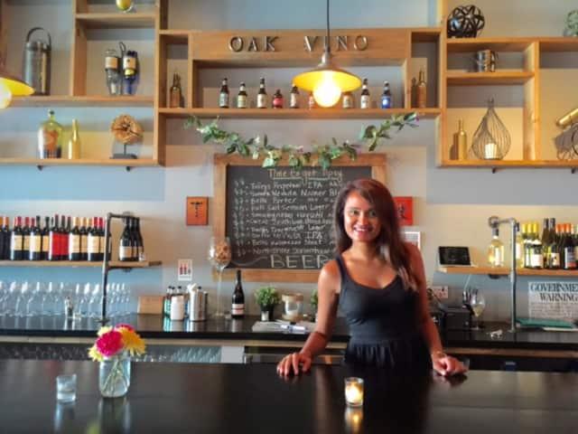 Rinny Shah owns Oak Vino Wine Bar in Beacon.