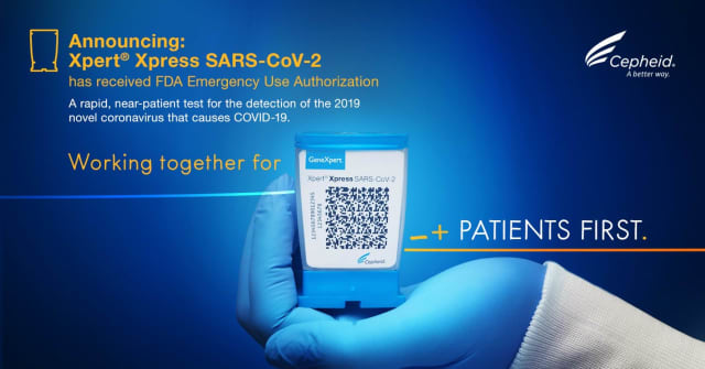 The FDA approved a rapid response coronavirus test manufactured by Cepheid.