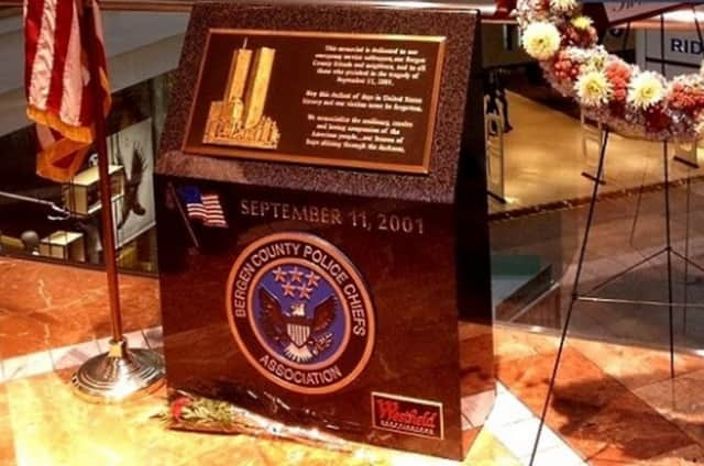 9/11 Memorial, donated by Bergen County Police Chiefs Association, at Garden State Plaza in Paramus