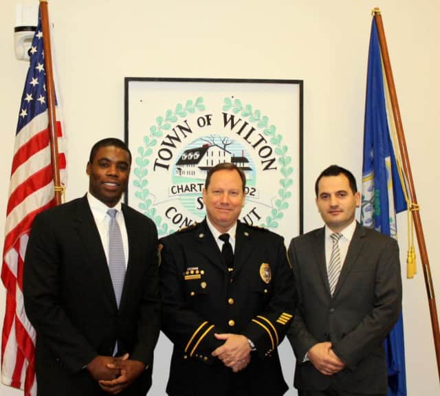 On Dec. 29, the Wilton Police Department swore in two new officers: Malcom Hayes and Jeton Ejupi.