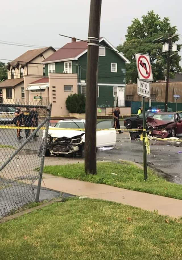 Violent Hackensack crash