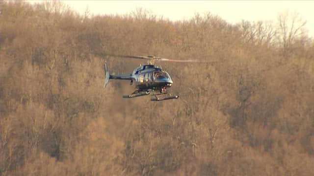 A NYC Department of Environmental Protection helicopter gave some a scare in Mount Pleasant on Tuesday.