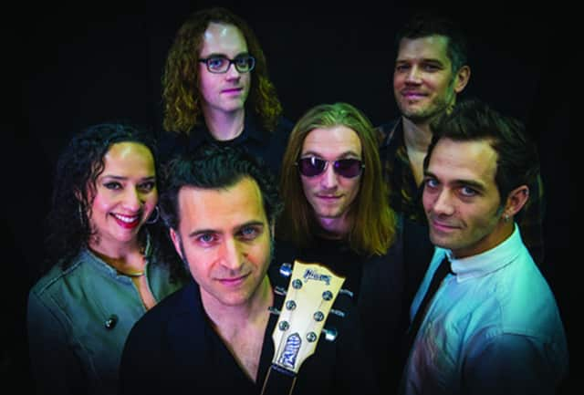 "Dweezil Zappa and the members of ""Zappa Plays Zappa."""