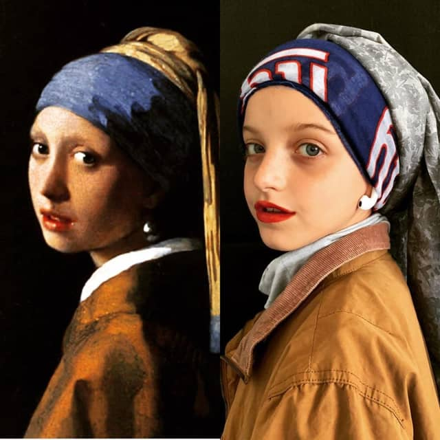 """Brielle Lucchi, 9, as """"Girl with a Pearl Earring."""""""
