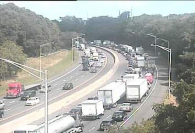 Traffic is congested in both directions on I-95 between Norwalk and Westport Wednesday afternoon.