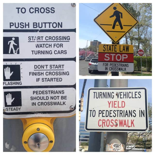 Stamford police are reminding residents of the different types of crosswalks and the rules.