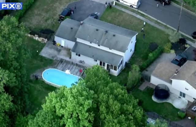 The bodies were found in the backyard pool on Clearview Drive in East Brunswick.