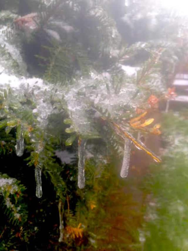 Icicles are everywhere after an icy, wet snowfall across the region.