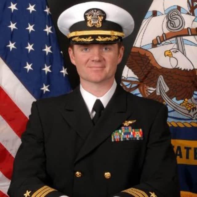Brendan Stickles of Glen Rock, Commanding Officer VAQ-130.